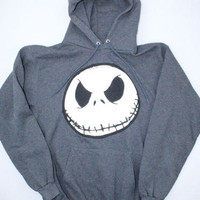 Walt Disney World Grey Nightmare Before Christmas Hooded Sweatshirt - Size Small