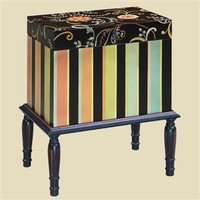Home Living Style Storage Trunk - ETC Lily Striped Trunk 36 013TR