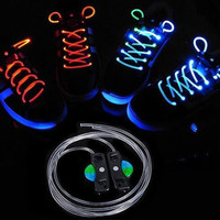 Christmas Cool Muti color LED Light Up ShoeLace Disco Party Skating Flash Glow