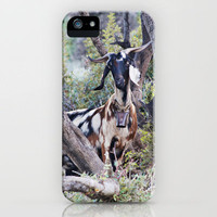 Goat on a Hill iPhone Case by Around the Island (Robin Epstein) | Society6