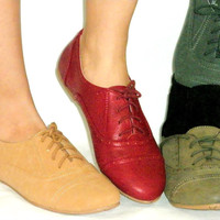 SO CUTE!Super Soft Lace Up Flat Oxford Shoe*Flexible Rubber Grip Sole*