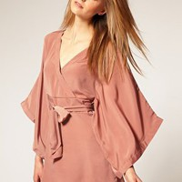 Vero Moda | Vero Moda Shiny Satin 20s Kimono Dress at ASOS