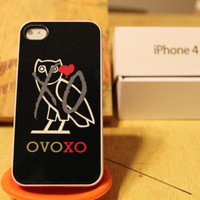 Drake/ Black OVOXO / Weeknd / Overdose / OwL / Black Apple Iphone 4 / 4s Case