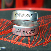 Forever &amp; Always aluminum ring 1/4 inch