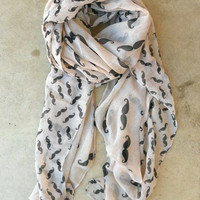 Cheeky Mustache Scarf [3496] - $18.00 : Vintage Inspired Clothing &amp; Affordable Fall Frocks, deloom | Modern. Vintage. Crafted.