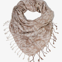 Metallic Abstract Scarf | FOREVER 21 - 1030186314