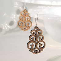 East Earrings in Bamboo