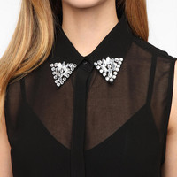 Urban Outfitters - Pins and Needles Embellished Collar Blouse