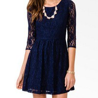 3/4 Sleeve Lace Dress | FOREVER 21 - 2031556800