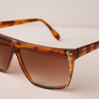 Brown And Gold Clubmaster Sunglasses A48