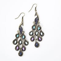 Peacock Drop Earrings | Jewelry| Accessories | World Market
