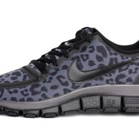 Nike Wmns Free 5.0 V4 Leopard - Dark Grey (511281-013) womens Shoes