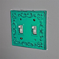 Laguna Green Decorative Light Switch Plate/ by AquaXpressions