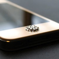 Swarovski Home Button For iPhone - $25 | The Gadget Flow