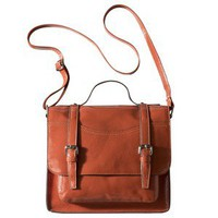 Mossimo Supply Co. Patent Large Lady Satchel - Burnt Sienna
