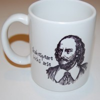 shakespeare kicks arse coffee mug by BookFiend on Etsy