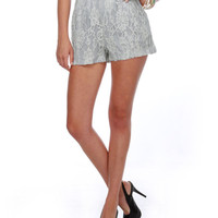Retro Lace Shorts - Grey Shorts - Fitted Shorts 
