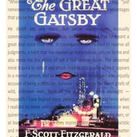 The Great Gatsby Book Jacket Print 8x10