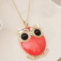 Red Owls Pendant Ladies Necklace Wholesale : Wholesaleclothing4u.com
