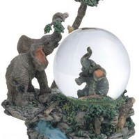 Snow Globe Elephant Collection Desk Figurine Decoration