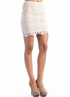 layered crochet skirt &amp;#36;19.60 in CREAM - Skirts | GoJane.com