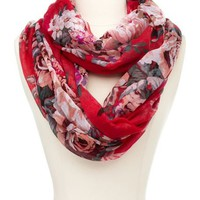 Beautiful Bouquet Infinity Scarf: Charlotte Russe