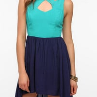 Urban Outfitters - Sparkle & Fade Cutout Neck Colorblock Dress