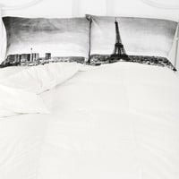 Paris Panorama Pillowcase - Set Of 2- Black & White ALL
