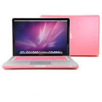 GMYLE® Pink Frosted-see-through Hard Shell Snap On Case Skin for Aluminum Unibody 13 Inches Macbook