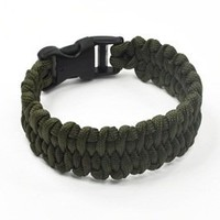 KLOUD ® Olive Green 9-inch polyester paracord survival bracelet + KLOUD cleaning cloth