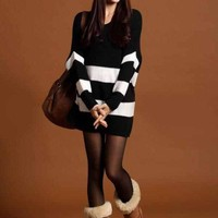 Stripe V neck Knitted Sweater from Basiques Boutique