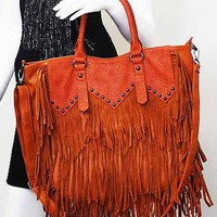 Fringe and Studs Fab Purse