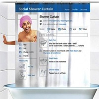 Spinning Hat Social Shower Curtain - $16 | The Gadget Flow