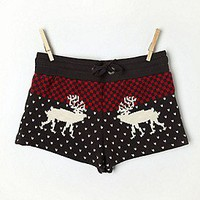 Free People Clothing Boutique &gt; Fleece Printed Shorts