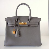 HERMES BIRKIN 30 ETAIN gold hardware NEW colour bag | Portero Luxury