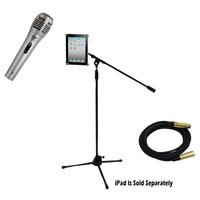 Pyle Mic and Stand Package - PDMIK1 Professional Moving Coil Dynamic Handheld Microphone - PMKSPAD1