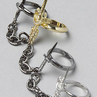 The Pirates Of The Caribbean Four Finger Link Rings : nOir : Karmaloop.com - Global Concrete Culture