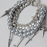 The Pirates Of The Caribbean Daggers and Pearls Bracelet : nOir : Karmaloop.com - Global Concrete Culture
