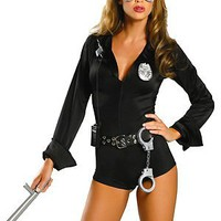 Roma Costume Women's My Way Patrol Sexy Patrol Cop Costumes For Women Black