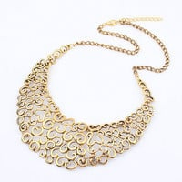 Wholesale Vintage Antique Gold Hollowed Bib Necklace