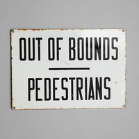 Vintage Out Of Bounds Sign