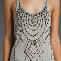 HAUTE HIPPIE STUDDED TANK TOP (L) Large