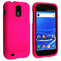Hot Pink Rubberized Hard Snap-on Protector Shell Case Face Plate Cover For Samsung Hercules T989 Ga