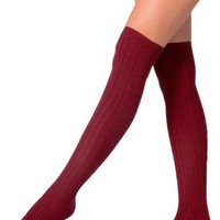 American Apparel Ribbed Modal Over-the-Knee Sock -Truffle