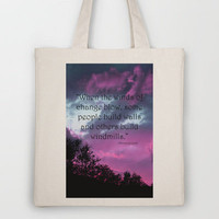 Wind of Change Tote Bag by Angela Bruno | Society6
