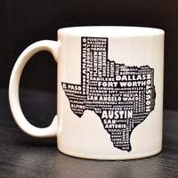 TEXAS Coffee Mug - Unique Art Tea Cup