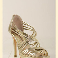 Chinese Laundry Imagine Heel in Gold