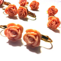 Sailor Moon - Sailor Jupiter Gold Rose Earrings for cosplay