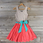 Spin & Loom Dress in Watermelon, Sweet Women's Country Clothing