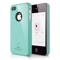 Amazon.com: elago S4 Slim fit Case for AT&amp;T,Sprint and Verizon iphone4/4S - Coral Blue + Logo Protection Film included: Cell Phones &amp; Accessories